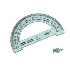 180 Degree 15cm Clear Blue Plastic Protractor