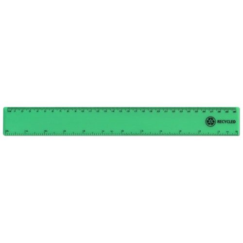 "12""/30cm Green Recycled Plastic Ruler"