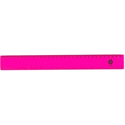 "12"" / 30cm Pink Recycled Plastic Ruler"