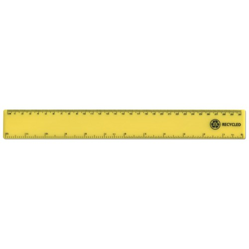 "12""/30cm Yellow Recycled Plastic Ruler"