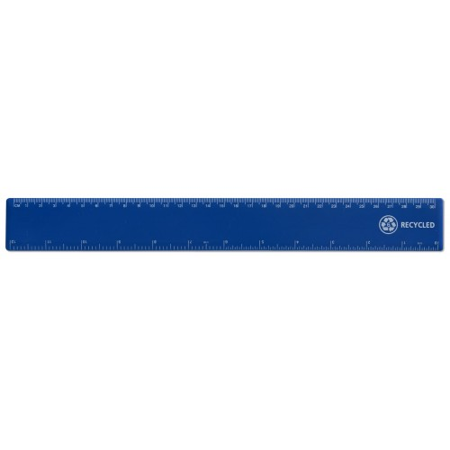 "12""/ 30cm Blue Recycled Plastic Ruler"