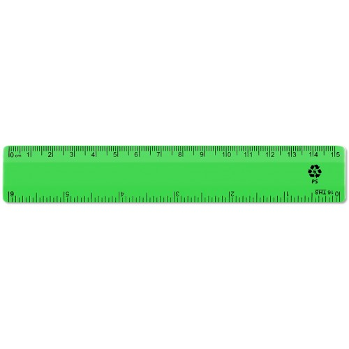 "6"" / 15cm Green Recycled Plastic Ruler"