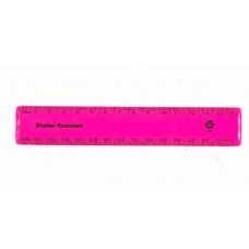 "6"" / 15cm Pink Recycled Plastic Ruler"