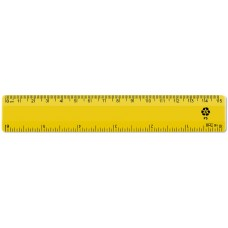 "6"" / 15cm Yellow Recycled Plastic Ruler"