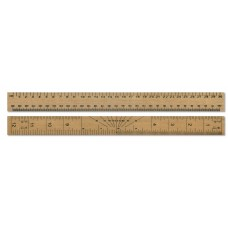 "12"" / 30cm Double Sided Wooden Ruler"