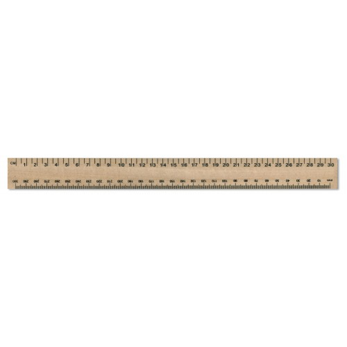 30cm/300mm Single Sided Wooden Ruler