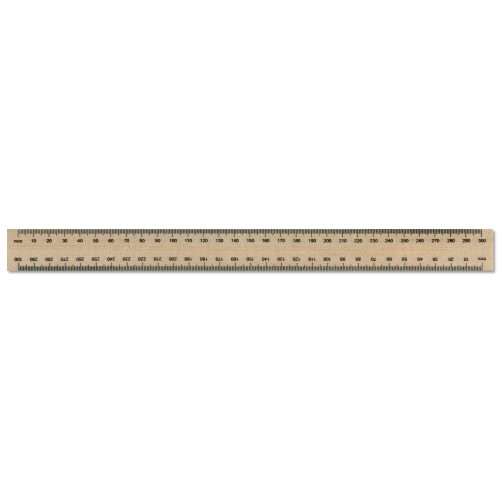 300mm Single Sided Wooden Ruler