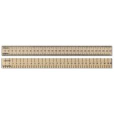 30cm / 300mm Dead Length Wooden Ruler