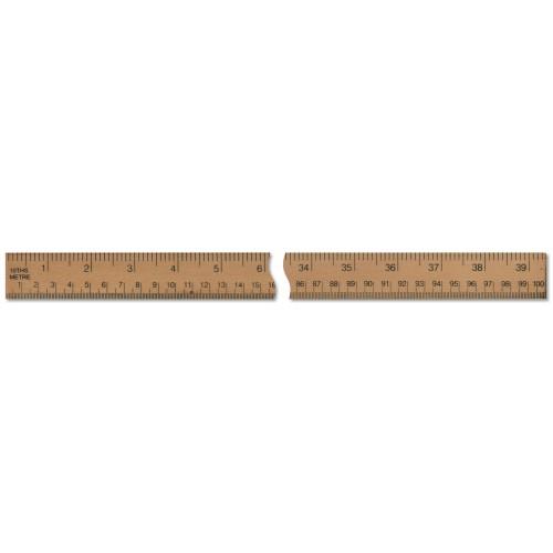 "39"" - 1 Metre Wooden Ruler"