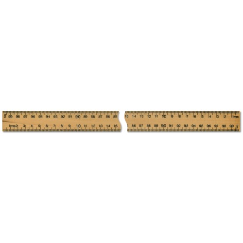 1 Metre Wooden Ruler cm/mm both edges