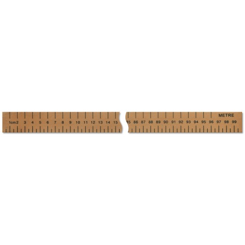 Centre Numbered Metre Ruler