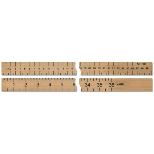 """36""""/Metre  Ruler Double Sided"""