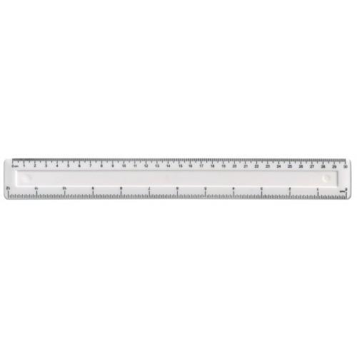 """12"""" / 30cm White Plastic Shatter Resistant Ruler"""