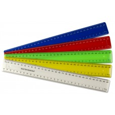 100 x 30cm / 300mm Coloured Rulers - 25 of 4 colours