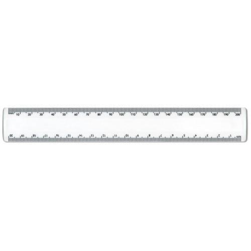 20cm/200mm White Plastic Ruler