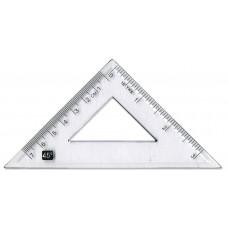45 Degree 10cm Clear Plastic Set Square