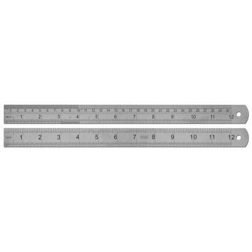 "12"" /  30cm Stainless Steel Ruler"