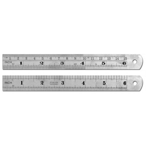 "6"" / 15cm Stainless Steel Ruler"