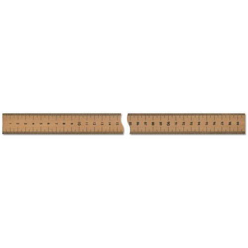 Metre Wooden Ruler - Vertical Reading