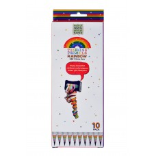 HB2 Recycled Rainbow Pencil - Pack 10