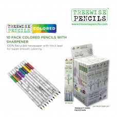 Coloured Recycled Pencils - Pack 10