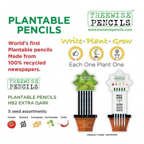 Plantable Pencils - Pack 5
