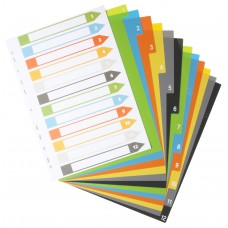 A4 Set of 12 Index File Dividers