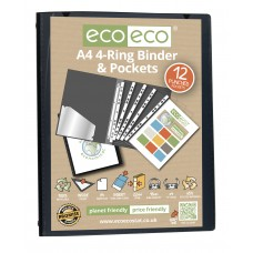 A4 Presentation Ring Binder with 12 Pockets